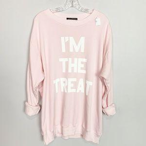 "Wildfox ""I'm The Treat"" graphic sweatshirt pink"